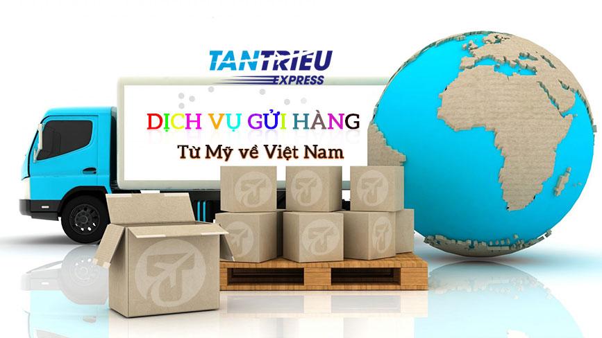 Dịch vụ chuyển hàng từ Mỹ về Việt Nam của Tân Triều Express